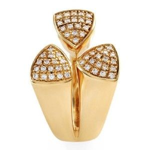 new authentic di modolo 18k yellow gold diamond ring