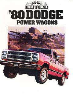 1980 Dodge Power Wagon Ram Truck Original Sales Brochure Catalog W150