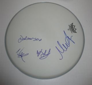 Group Band Signed Autographed Remo Drumhead Dolores ORiordan