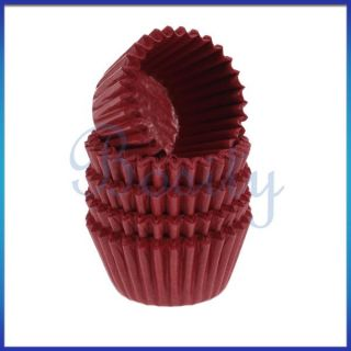 Red Cake Chocolate Paper Cases Cupcake Liners Baking Cups Wraps