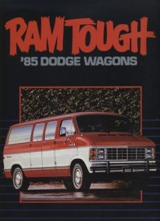 1985 Dodge RAM Wagon Van CDN Sales Brochure Book