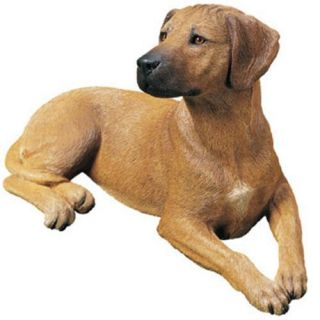 Rhodesian Ridgeback Dog Statue Small Figurine Sculpture