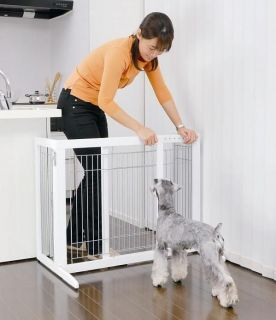 Richell Freestanding Pet Gate HS Dog Gate White Pet Gate