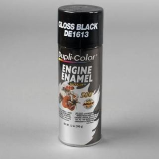 Dupli Color Paint Engine Enamel with Ceramic Resin Gloss Black 12 oz