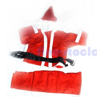 Disposable Merry Christmas Santa Claus Suit Set Cosplay Costume Cloth