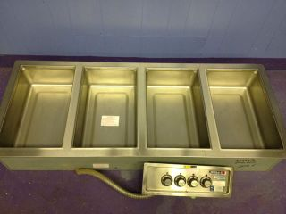 Used Wells Steam Table 4 Well Electric Buffet Hot Food Warmer Heated