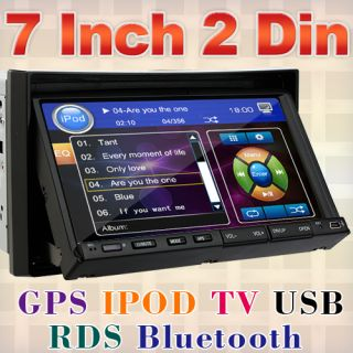 2012 Cool 7in Dash Double DIN Car Stereo DVD Player GPS Navigation