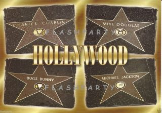 Hollywood Walk of Fame Michael Jackson Star Post Card
