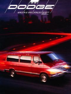1991 Dodge RAM Wagon Van Deluxe Sales Brochure