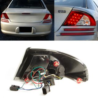 01 06 Dodge Stratus 4DR Red Clear Philips LED Perform Tail Lights