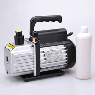 Single Stage Rotary Vane Vacuum Pump 1 4HP Refrigerant HVAC R134a