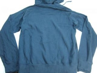 Sportique Apparel Buffalo Front Zip Hoody Jacket Mens Blue Large New