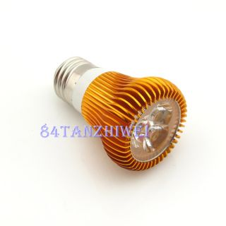 E27 Bulb Warm White High Power 3X2W LED Spot Light Bulb Lamp 6W 85