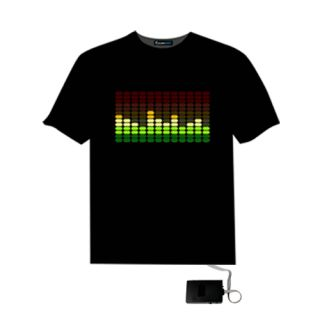Sound Activated Light Up and Down LED Light El T Shirt