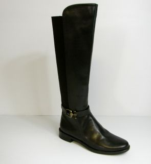 F750 Anne Klein Carlene Brown Over The Knee Zip Up Boots Sz 6 M Free