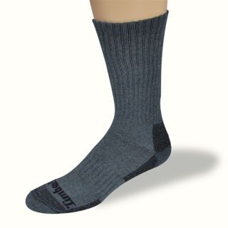 Timberland Mens Socks Charcoal Outdoor Crew 2 Pairs