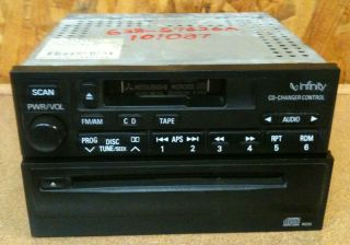02 Mitsubishi Eclipse OEM Factory Stock CD Tape AM FM Radio CD Changer