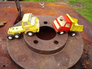Pair of Steel Toy Trucks Smaller Sized One Tonka