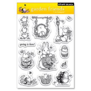 Garden Friends Penny Black Clear Acrylic Stamps Stamping Craft