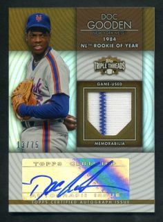 2012 Topps Triple Threads Dwight Doc Gooden Unity Jersey Auto /75