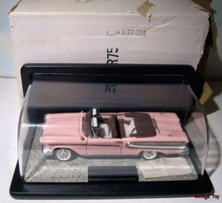 Franklin Mint 1958 Edsel Citation Convertible 1 24 Diecast in Case