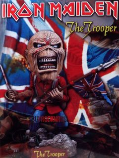 2011 Iron Maiden Eddie The Trooper Head Knocker Album Figure