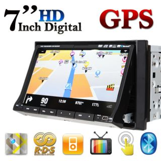 DIN in Dash Car Stereo DVD Player TV Pip Bluetooth GPS Nav Map