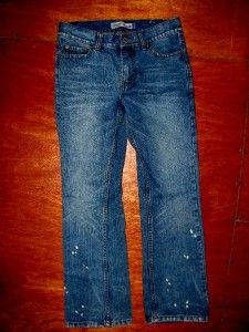 Aeropostale Splattered Driggs Slim Boot Cut Jeans Mens Size 27x28