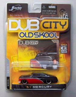 1951 MERCURY BLACK & RED DUB CITY OLDSKOOL Diecast Model Car