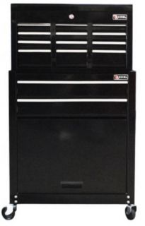 24 Top Chest with Rolling Cabinet Tool Storage Chest Toolbox