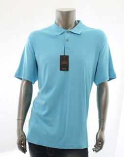 Tasso Elba New Blue Mens Casual Shirt Size XL x Large Polo Rugby Top