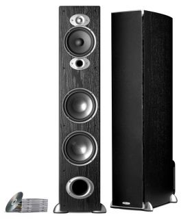 New Polk Audio RTI A7 Home Theater Floor Standing Speaker Cherry RTIA7