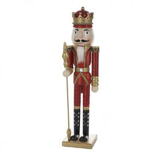 Decorations Nutcrackers Kurt Adler 24 Wooden Red and Gold Nutcracker