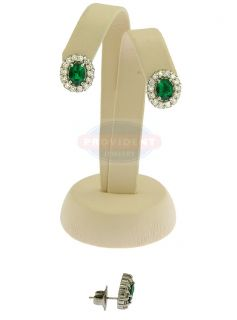 12a 4p eastern estate platinum lds 2 80ct emerald diamond earrings