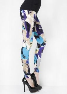 New Stella Elyse Womens Cool Retro Florals Printed Leggings Stretch