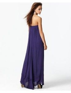 Auth BCBG Exene Beaded Strapless Silk Chiffon Cocktail Gown Size 0