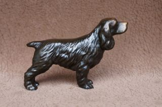 Vintage Metal TROPHY CRAFT English Springer COCKER SPANIEL Dog