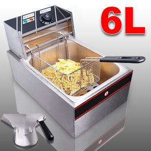 2500W Commercial 6 Liter Electric Deep Fryer Countertop