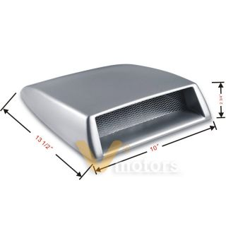 Paintable JDM Turbo Air Flow Intake Vent Hood Scoop Cover 13.5 X 10