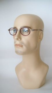 NEOSTYLE Frames Eyeglasses Spectacles Mens Vintage Burgundy Gun Round