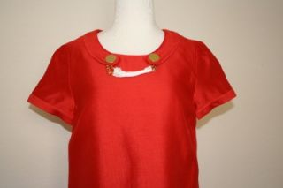 New Kate Spade Cady Short Sleeve Shift Dress Button Chain in Birght