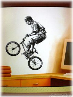 Deco Extreme Sport Decor Boys Room Bike BMX Wall Decal Mural Art