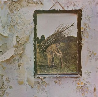LED Zeppelin Signed Zeppelin IV LP x4 R Plant J Page JP Jones J Bonham