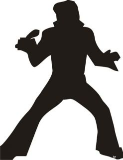 Elvis Silhouette Vinyl Decal Sticker Car Graphic