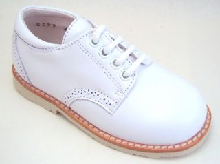 Spain Baby Boys White Leather Dress Shoes Euro 19 29 Sz 4 11 5