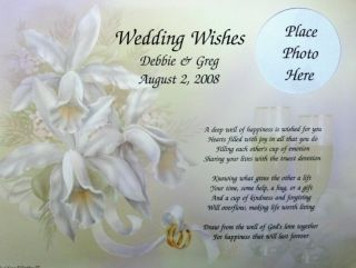 Personalized Wedding Wishes Poem Gift for Bride Groom