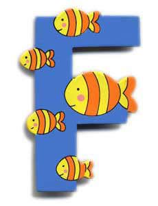 Wooden Fish Letter F Magnet The Toy Workshop