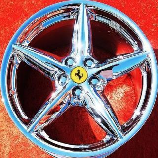 SET OF 4 NEW 18 FERRARI 360 MODENA OEM CHROME WHEELS RIMS 430 MONDIAL