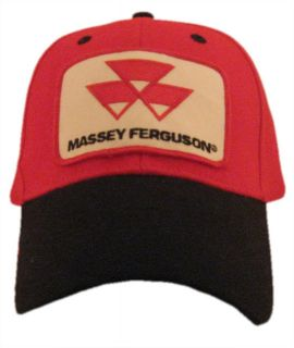 Massey Ferguson Tractor 6 Panel Red Black Hat Cap Gift Fits Most