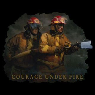 Shirt Firefighter Courage Under Fire SM XL